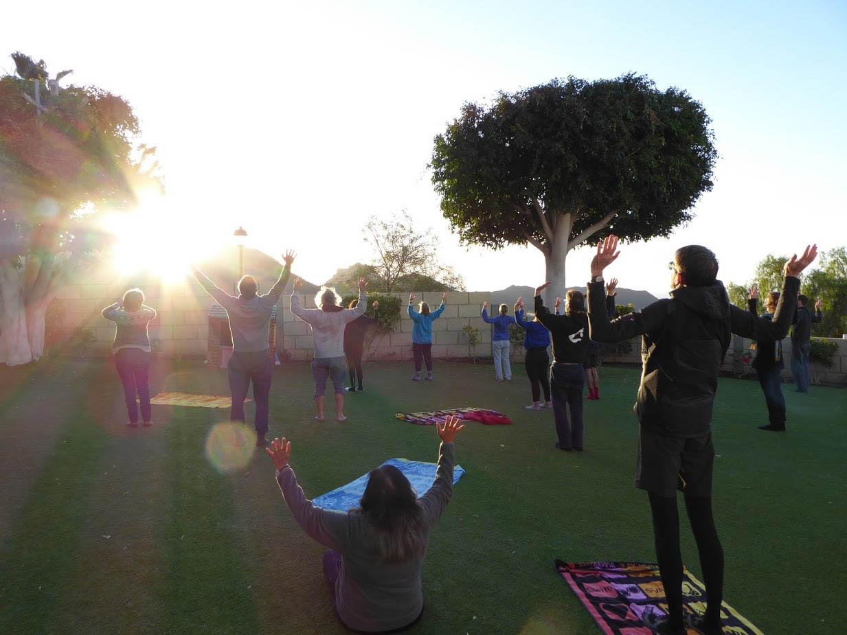 Honesty Europe retreat Morning yoga