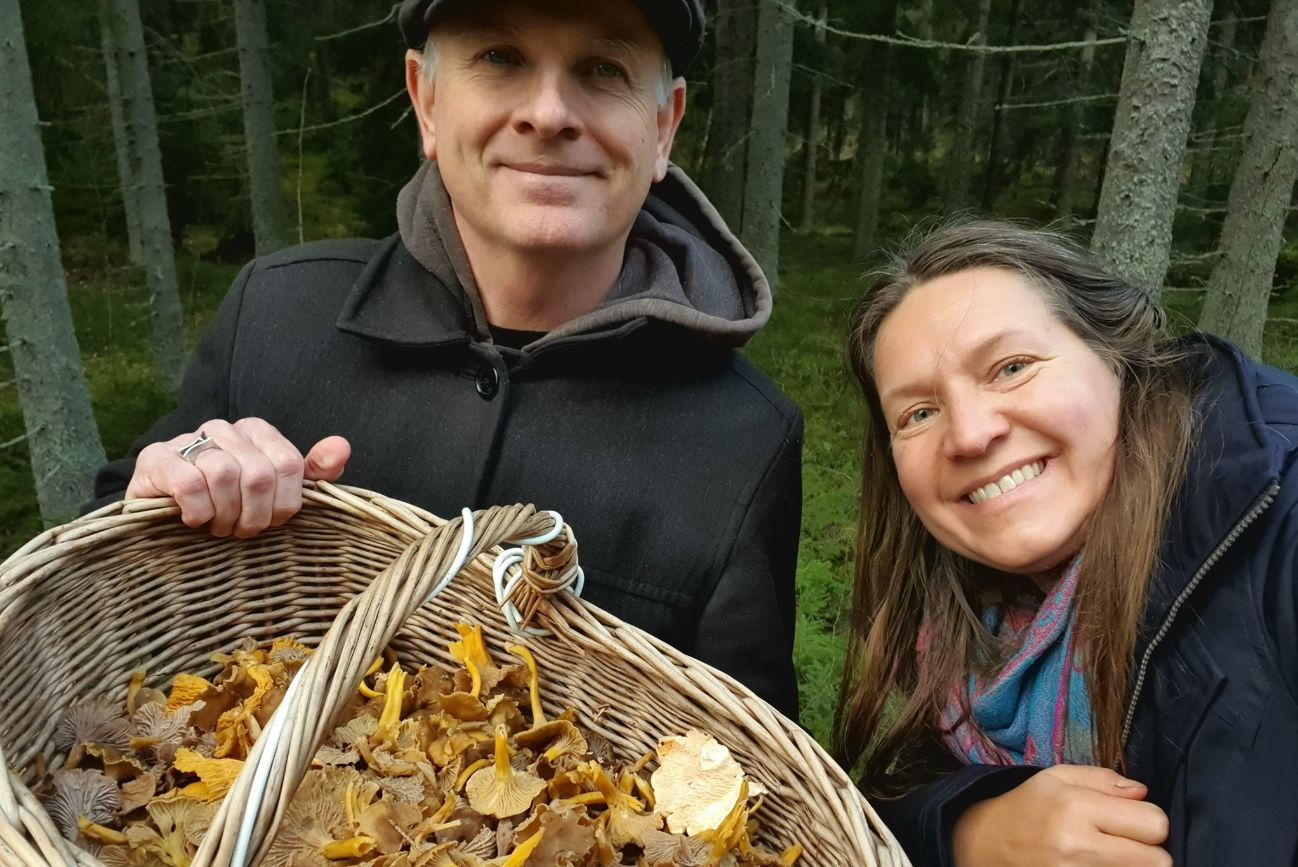 Pete And Tuulia Of Honesty Europe Show Mushrooms From Forest