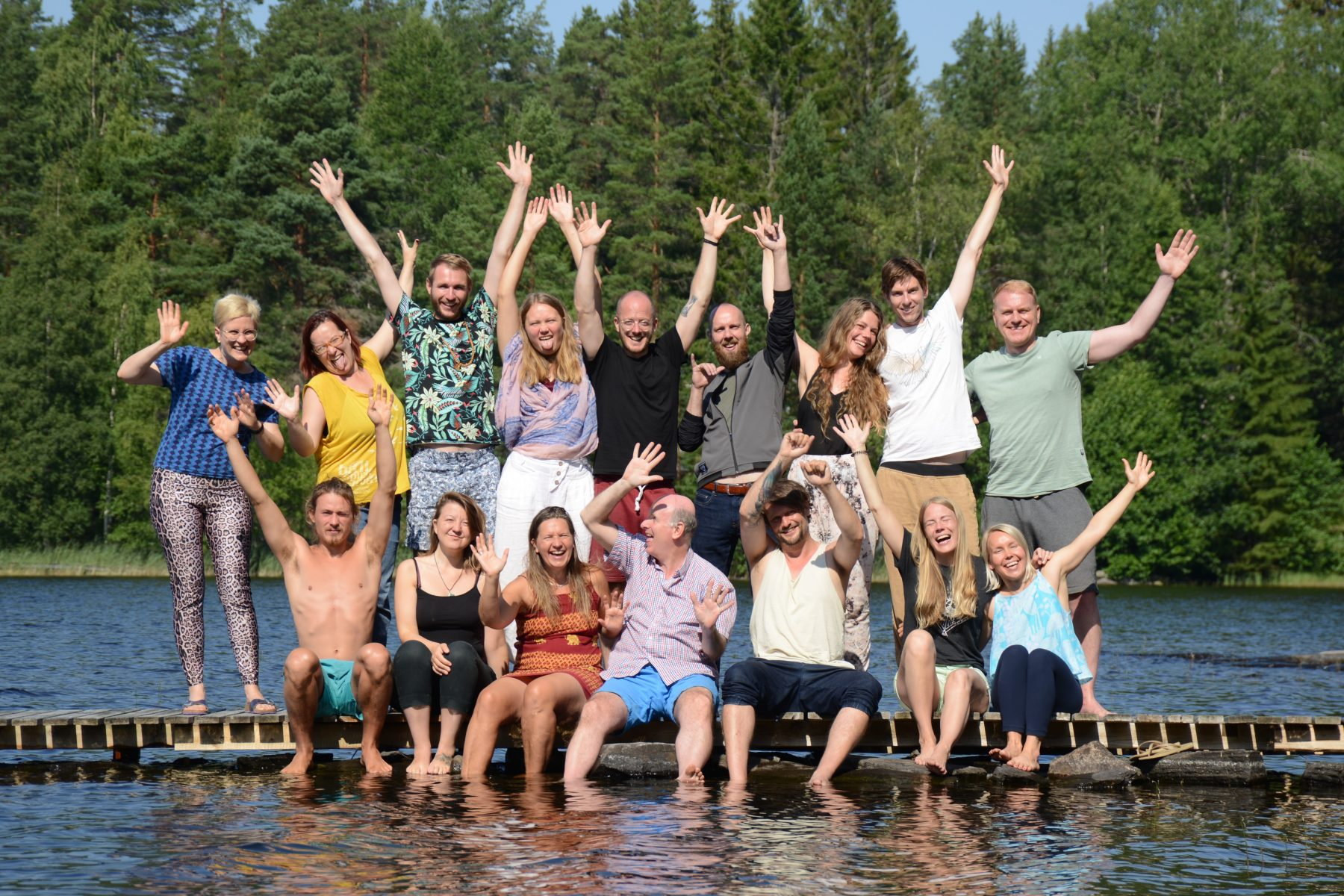 Honesty Europe workshop in Finland - participants on the lake