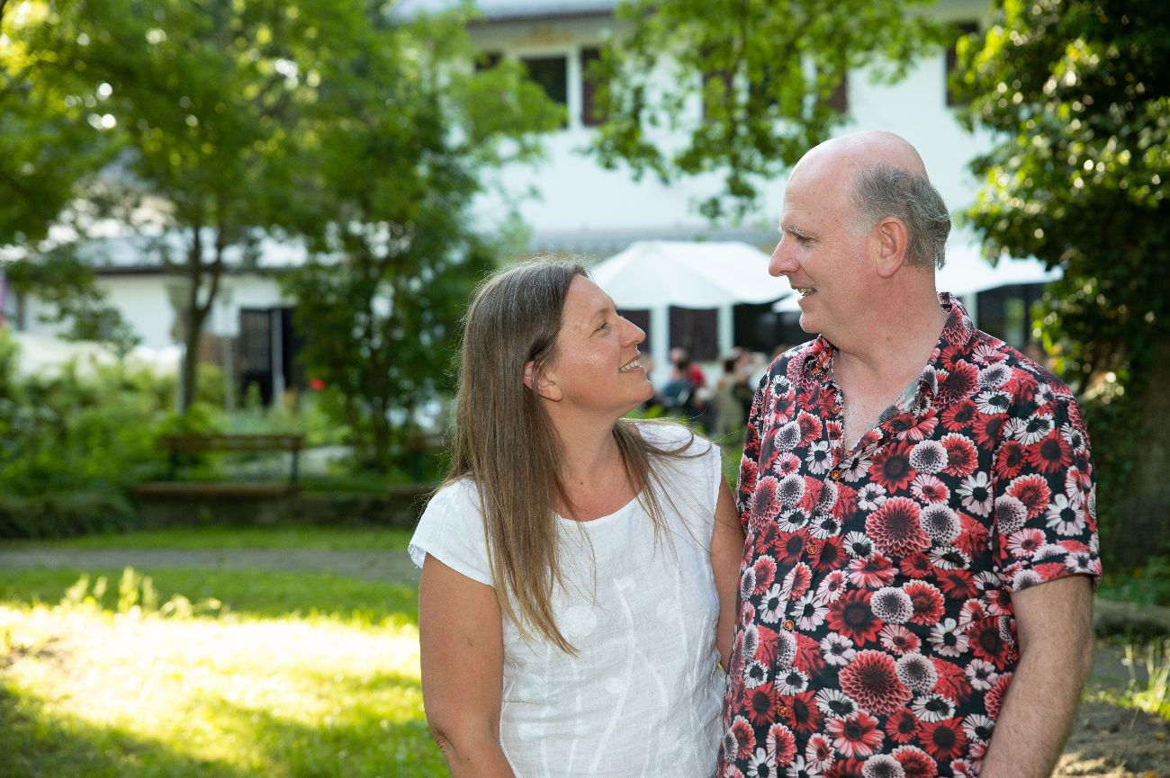 Pete Jordan And Tuulia Syvänen At The Honesty Europe Gathering In Spitzmühle, Germany 2021